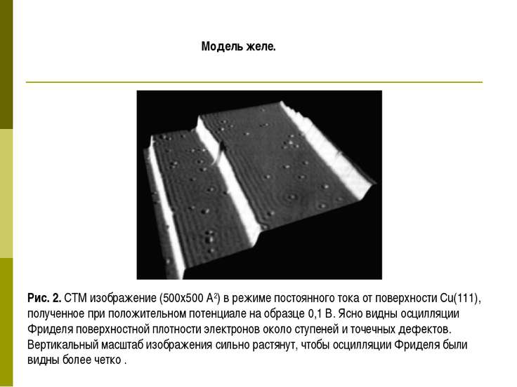 Модель желе. Рис. 2. СТМ изображение (500x500 А2) в режиме постоянного тока о...