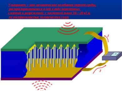 Ультразвук – это механические колебания упругой среды, распространяющиеся в н...