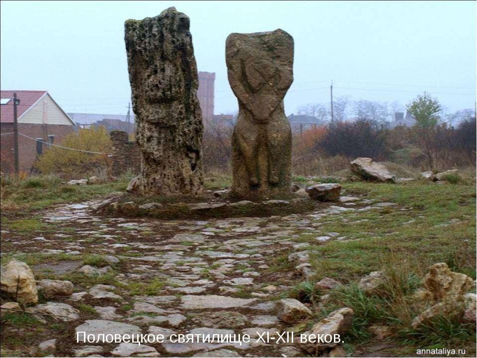 Половецкое святилище XI-XII веков.