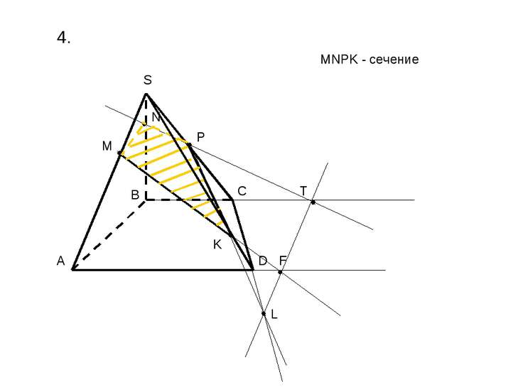 4. A B C D S M P K L F T N MNPK - сечение