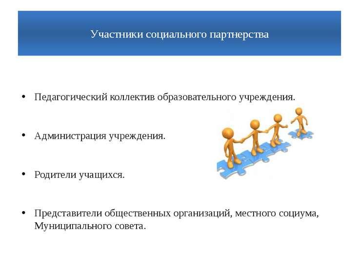 Участники социального партнерства  Педагогический коллектив образовательного...