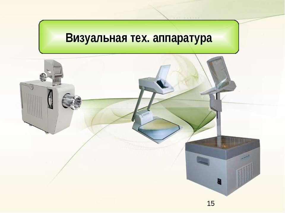 Визуальная тех. аппаратура