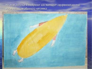 На этом рисунке я изобразил как выглядит серфенгист из под воды взглядом обыч...