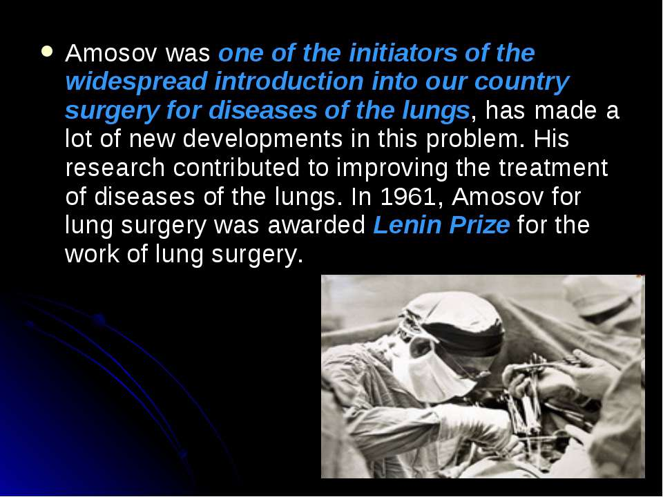 Amosov was one of the initiators of the widespread introduction into our coun...