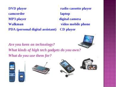 DVD player radio cassette player camcorder laptop MP3 player digital camera W...