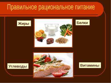 Белки Жиры Углеводы Витамины