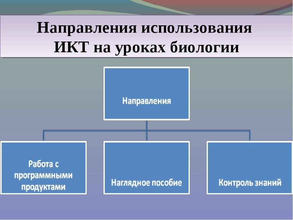 Направления использования ИКТ на уроках биологии