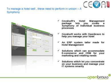 To manage a hotel well , these need to perform in unison – A Symphony Cevalso...