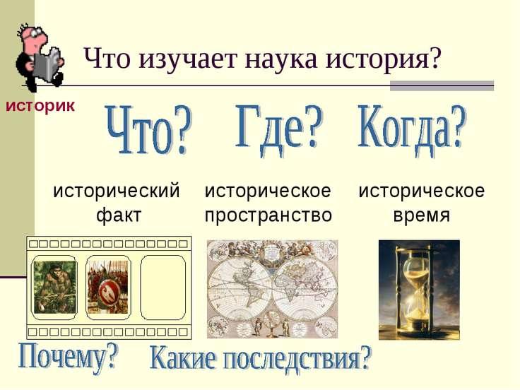 Что изучает наука история?