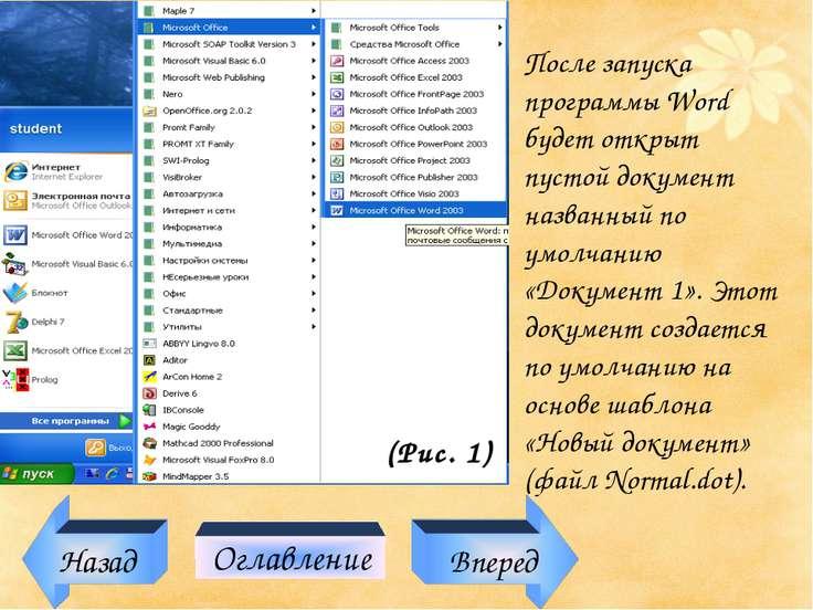 После запуска программы Word будет открыт пустой документ названный по умолча...