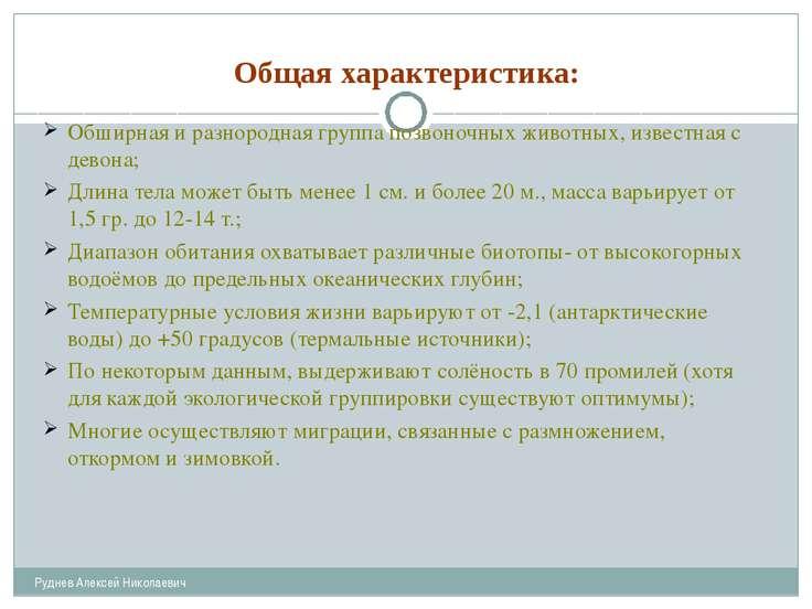 Общая характеристика: Руднев Алексей Николаевич Обширная и разнородная группа...