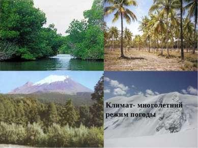 Климат- многолетний режим погоды