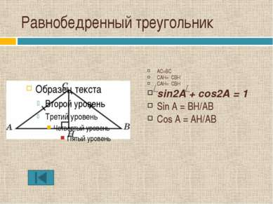 Тренировочная работа В треугольнике ABC AB=BC=15,AB=6√21. Найдите синус внешн...