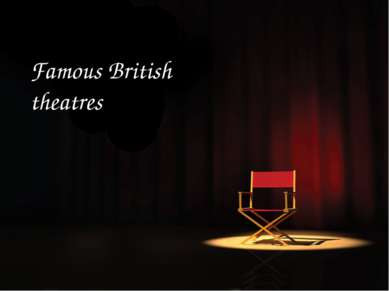 Famous British theatres