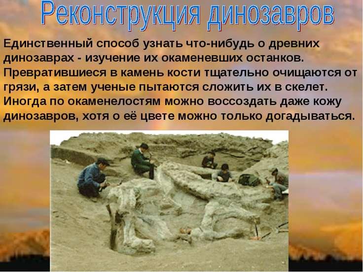 Единственный способ узнать что-нибудь о древних динозаврах - изучение их окам...