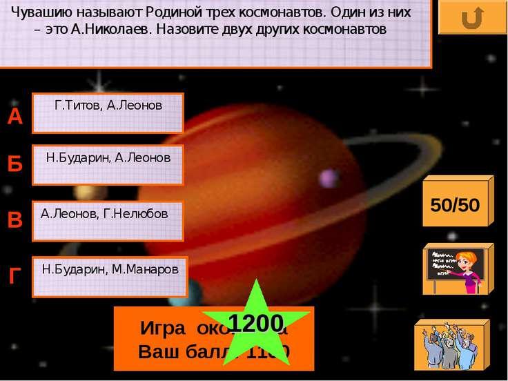 Чувашию называют Родиной трех космонавтов. Один из них – это А.Николаев. Назо...