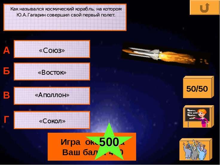 Как назывался космический корабль, на котором Ю.А.Гагарин совершил свой первы...