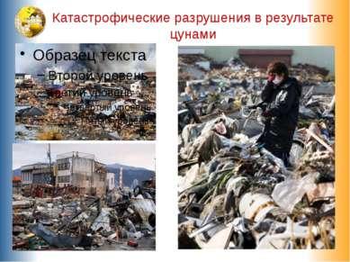 Катастрофические разрушения в результате цунами