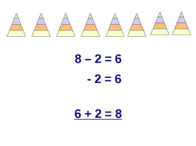 8 – 2 = 6 - 2 = 6 6 + 2 = 8