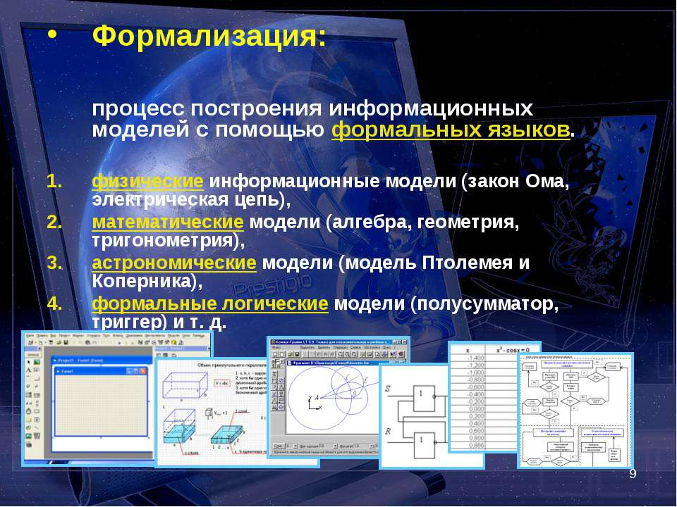 * Формализация: процесс построения информационных моделей с помощью формальны...