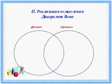 II. Реализация осмысления Диаграмма Вена функция обратная