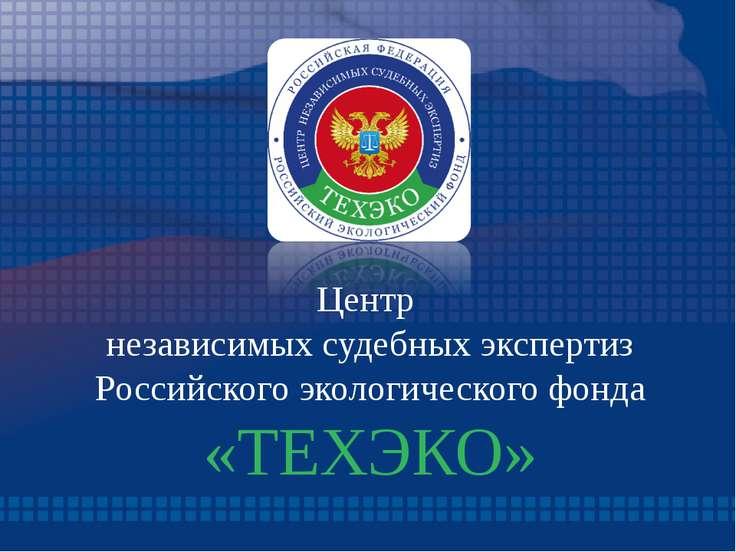 Центр независимых судебных экспертиз Российского экологического фонда «ТЕХЭКО»