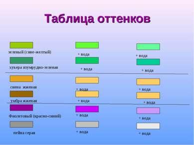 Таблица оттенков + вода + вода + вода + вода + вода + вода + вода + вода + во...