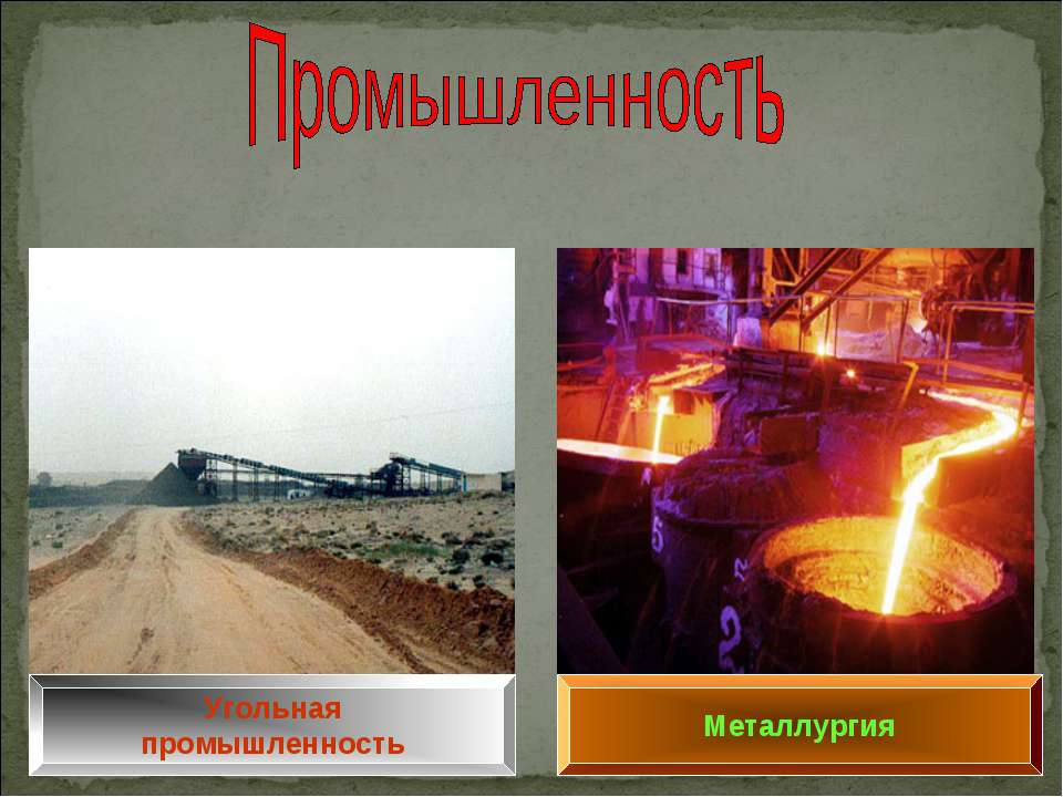 Угольная промышленность Металлургия