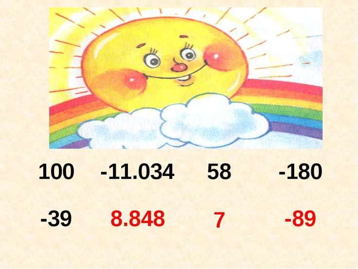 7 100 -11.034 58 -180 -39 8.848 7 -89