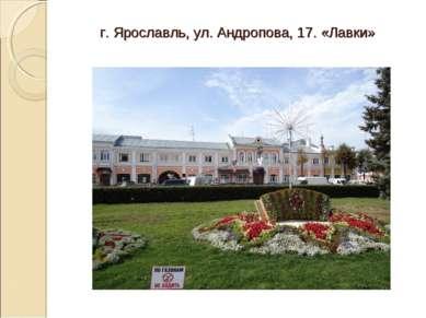 г. Ярославль, ул. Андропова, 17. «Лавки»