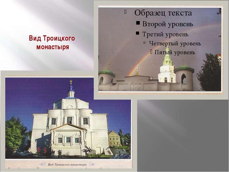Вид Троицкого монастыря