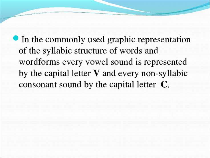 In the commonly used graphic representation of the syllabic structure of word...