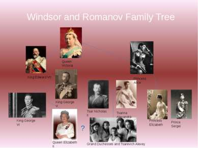 Windsor and Romanov Family Tree Queen Victoria King Edward VII King George V ...