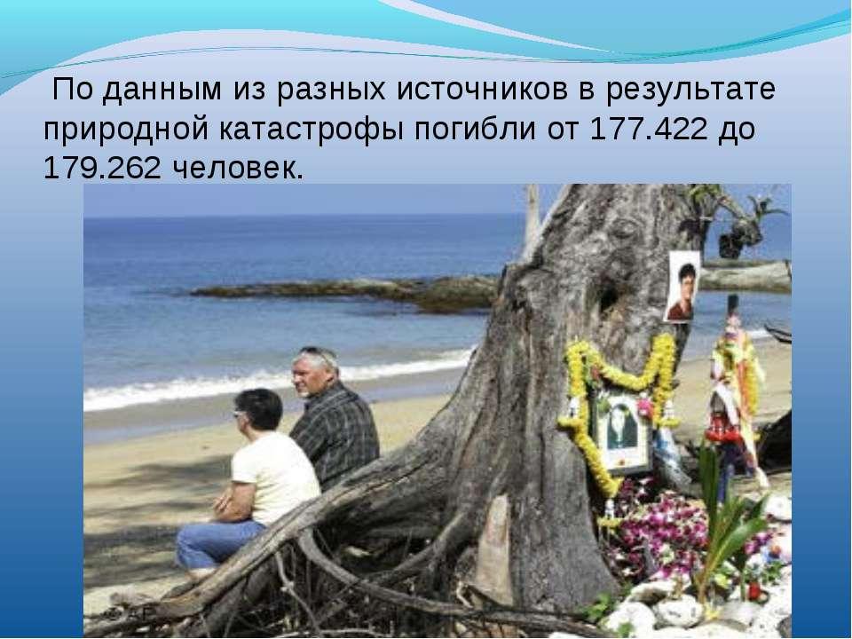 По данным из разных источников в результате природной катастрофы погибли от 1...