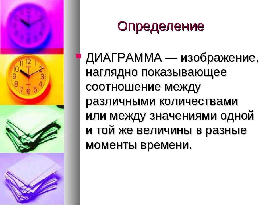 Определение ДИАГРАММА — изображение, наглядно показывающее соотношение между ...