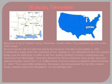 Moscow, Tennessee Moscow is a city in Fayette County, Tennessee, United State...