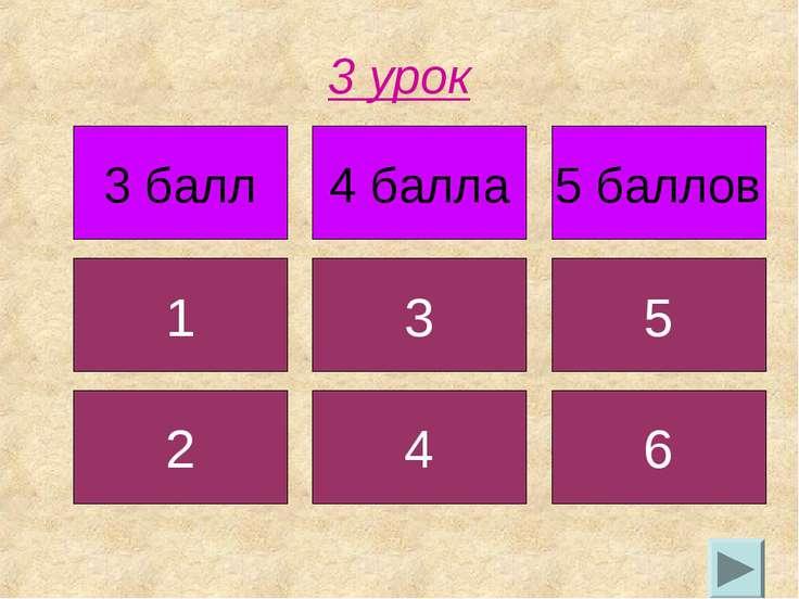 3 урок 3 балл 4 балла 5 баллов 1 3 5 2 4 6