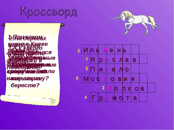1.При каком князе в Киеве появились замечательные архитектурные сооружения? 2...