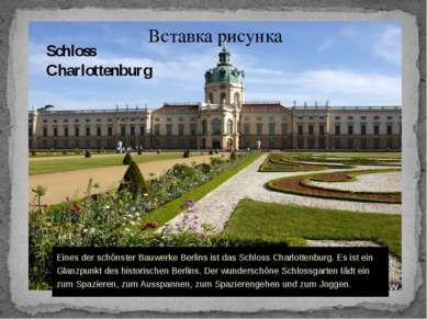 Schloss Charlottenburg Eines der schönster Bauwerke Berlins ist das Schloss C...