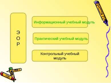 Информационный учебный модуль Практический учебный модуль Контрольный учебный...