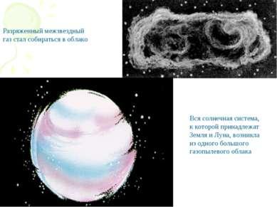 Разряженный межзвездный газ стал собираться в облако Вся солнечная система, к...