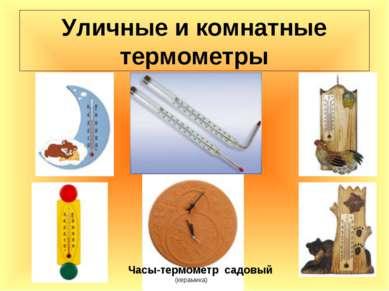 Уличные и комнатные термометры Часы-термометр садовый (керамика)