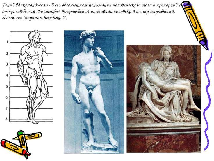 Гений Микеланджело - в его абсолютном понимании человеческого тела и пропорци...