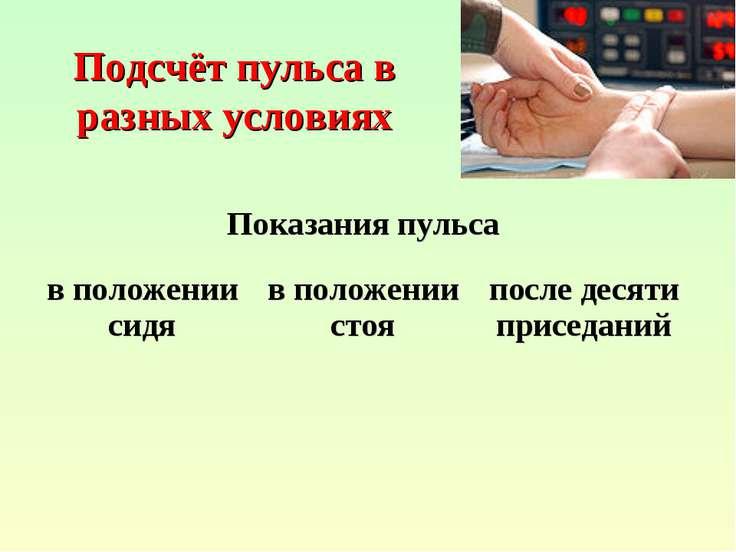Подсчёт пульса в разных условиях