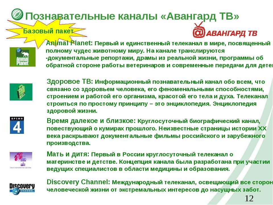 Познавательные каналы «Авангард ТВ» Базовый пакет Animal Planet: Первый и еди...