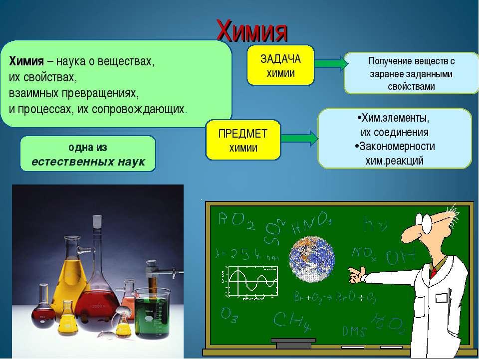 Химия * * Химия – наука о веществах, их свойствах, взаимных превращениях, и п...