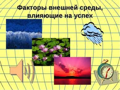 Факторы внешней среды, влияющие на успех