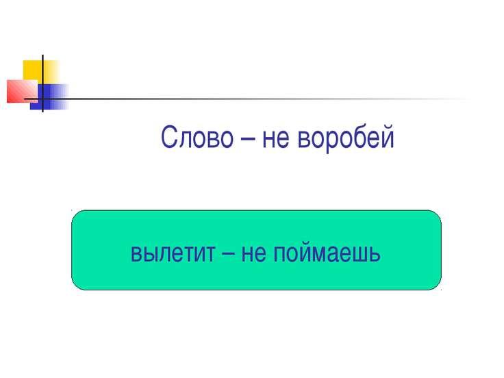 Слово – не воробей вылетит – не поймаешь