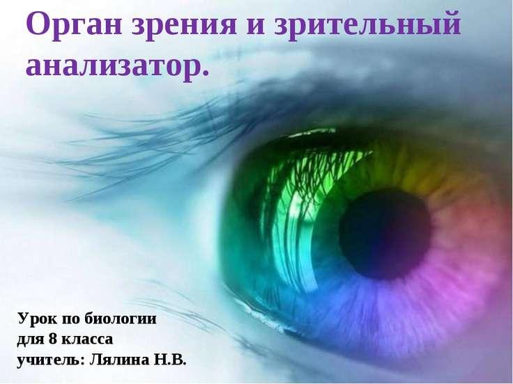 Орган зрения и зрительный анализатор. Урок по биологии для 8 класса учитель: ...