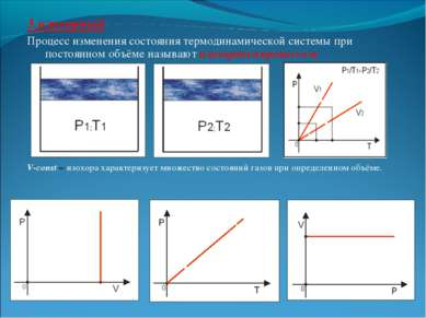 3.изохорный Процесс изменения состояния термодинамической системы при постоян...